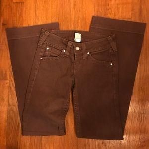 True religion brown jeans size 27